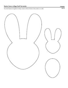 15 Best Photos of Easter Egg Template Bunny - Easter Bunny Template, Easter Bunny Pattern Printable and Egg Template Easter Bunny / datemplate.com