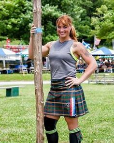 Amanda Ford, a former Marine door gunner who served two combat missi. Scottish Highland Games, Caber, Heaviest Woman, Scottish Women, Athletic Events, Female Athletes, Strong Women, Guinness, Tartan