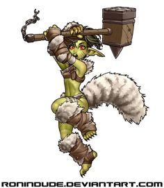 Daily Drawing - Goblin Barbarian 2 by RoninDude.deviantart.com on @DeviantArt