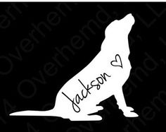 Labrador Retriever with Script Name Decal Personalized Dog Lab Pet Window Vinyl Car Laptop Sticker