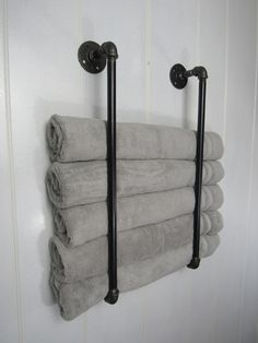 Vertical Towel Rack, Dual Towel Holder, Bathroom Towel Holder, Beach Towel Storage, Bathroom Decor his towel rack is a fantastic way to store and display your towels in a creative way! The double pi Beach Towel Storage, Bathroom Towel Storage, Small Bathroom Organization, Bathroom Towels, Bath Towels, Bathroom Beach, Cozy Bathroom, Bathroom Ideas, Bathroom Remodeling