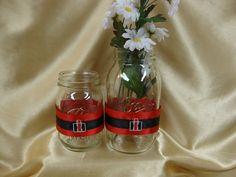 10 Mason Jar Wraps for Wedding Reception or Special by StarBridal, $50.00