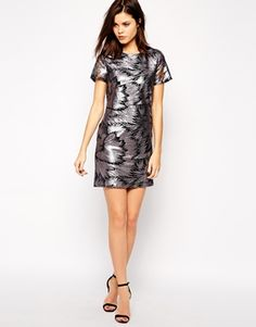 Enlarge Warehouse Sequin Shift Dress