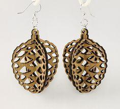 Acorns  Laser Cut Wood Earrings by GreenTreeJewelry on Etsy, $12.95