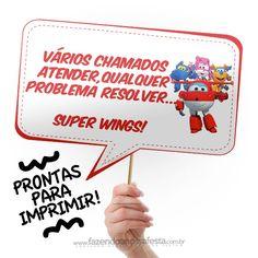 Plaquinhas Divertidas Super Wings