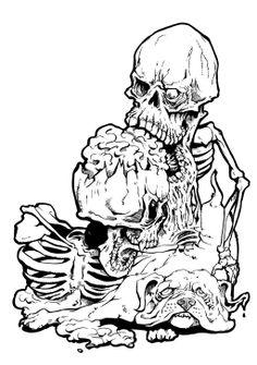 Skulldoglineartforweb by brewsterart.deviantart.com on @deviantART
