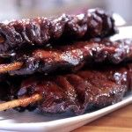 This tutorial for smoked pork tenderloin on a stick shows you how to weave pork tenderloin onto a long skewer, marinate it overnight then smoke it to wonderfully tender goodness. Pork Rib Recipes, Meat Recipes, Traeger Recipes, Sausage Recipes, Venison Recipes, Delicious Recipes, Asian Recipes, Tasty, Ethnic Recipes
