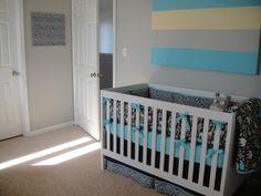 crib and bulletin board