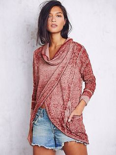 Cocoon wrap top free people