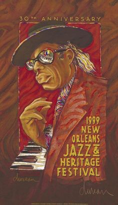 New Orleans Jazz Festival Poster - 1999