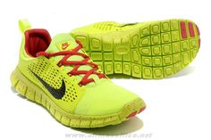 first rate 6f3f8 a0fc1 Neon Volt Sport Red Black Mens Nike Free Powerlines II New Nike Running  Shoes, Nike