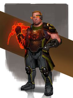 Mass Effect / Dragon Age - Talon Merc Varric (by AndrewRyanArt)
