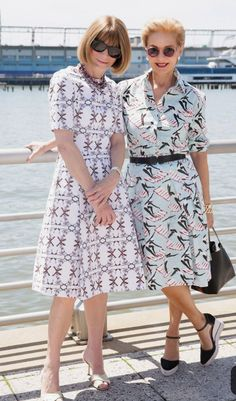 0334049aaf3 Carolina Herrera and Anna Wintour at the Born Free Africa Mother s Day  Family Carnival in New York