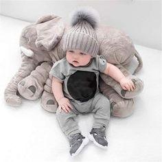 Grey Baby Plush Elephant Elephant Pillow for Babies,Newborn Baby Dolls, Elephant Soothing Pillow, baby elephant plush pillow,The Elephant's Body Contains 1 * Blanket The Babys, Baby Boy Newborn, Baby Kids, Baby Crib, Big Baby, Carters Baby, Elephant Plush Pillow, Baby Elefant, Foto Baby