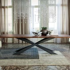 Spyder Wood Dining Table & Cattelan Italia Spyder Wood Table | YLiving