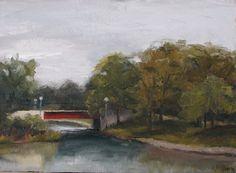 Original Oil Painting Humboldt Park Plein Air by RossbergOriginals, $125.00