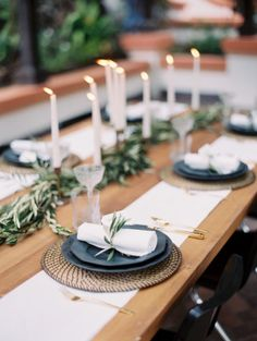 This Romantic Minimalism Wedding Inspiration from Smith + James Events and Kurt Boomer features olive branches with modern minimalistic detailing. Wedding Table Decorations, Wedding Table Settings, Decoration Table, Decor Wedding, Wedding Mandap, Stage Decorations, Wedding Ideas, Wedding Stage, Wedding Receptions