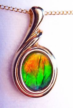 Natural Red Ammonite Ammolite Pendant Jewelry For Woman Man Crystal 12x10mm Beads Healing Gemstone Silver Necklace Pendant AAAAA