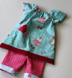 free infant peasant dress pattern with cute pants