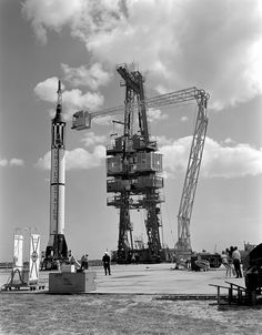 Mercury-Redstone 3 (MR-3) Prelaunch Activities on the Mercury 5 launch pad.