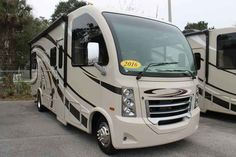 2016 New Thor Motor Coach VEGAS 25.2 Class A in Florida FL.Recreational Vehicle, rv, 2016 THOR MOTOR COACH VEGAS25.2, 12V Attic Fan in Bedroom, 12V Attic Fan in Living Area, 15.0 BTU A/C, 2nd Auxiliary Battery, 32in Exterior TV, 32in TV in Bedroom, Cabinetry-Sydney Maple, Holding Tanks w/Heat Pads, Interior-Polished Pewter, Symphony Red,