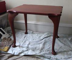Before photo of the side table
