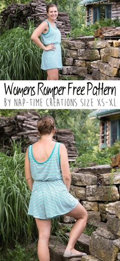 Cute Free Romper Sewing Pattern. This is a great diy alternative to any dress outfit.