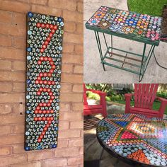 """Diy Bottle Cap Crafts 94364554675663110 - """"More bottle cap art. I could play all day. Send me your caps! Source by fspcl Diy Bottle Cap Crafts, Beer Cap Crafts, Bottle Cap Projects, Bottle Top Art, Bottle Cap Table, Bottle Caps, Tin Can Crafts, Beer Caps, Recycle Plastic Bottles"""