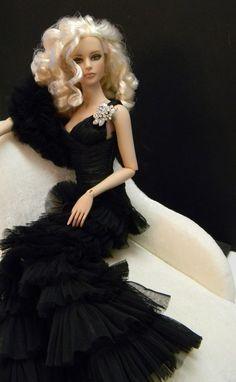 Barbie with black dresses