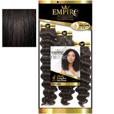 "Mon Dec 18, 2017 - #5: Empire Multi Deep Wave 14""16""18"" - Color 1B - Human Weaving - 3 pcs + closure"