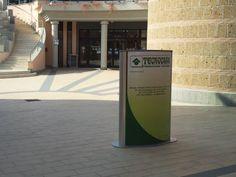Kaos Agency - totem presso centro commerciale Piazza Marcantoni e Cittadella della Salute - Civita Castellana