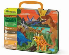Over 20 dinosaur magnets and 6 play scenes in this colourful tin for play and storage. Let kids' imaginations run wild in the magnetic dinosaur world. Logic Games For Kids, Card Games For Kids, All Dinosaurs, Kids Magnets, Kids Running, Fine Motor Skills, Problem Solving, Playroom, Lunch Box