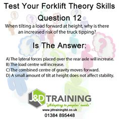 Forklift question of the day 12 from http://ift.tt/1HvuLik #forklift #training #safety #jobsearch
