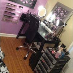 Future make up station... Haha moms gonna freak :)
