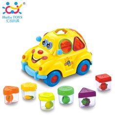 Baby Car Toy with Flashing Front and Back Lights and Music,Bump and Go Learn Fruit Shape Sorter,Electric Cars For Baby Children