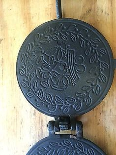 Griswold Cast Iron Pizzelle Waffle Iron Paddles $55.00
