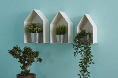 Set di tre mensole di design in metallo bianco Interior Plants, Interior Design, Floating Shelves, Shabby Chic, Home And Garden, Ceramics, Gardens, Home Decor, Houses