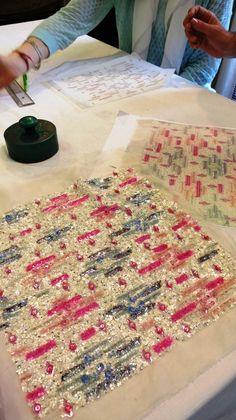 Lesage: How its Atelier Realizes Dreams Exquisite embroidery by Maison Lesage, Atelier. Photo © Sonia Kolesnikov-JessopExquisite embroidery by Maison Lesage, Atelier. Tambour Beading, Tambour Embroidery, Crewel Embroidery Kits, Couture Embroidery, Couture Sewing, Embroidery Patterns, François Lesage, Bouchra Jarrar, Couture Details