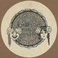 Ex libris - R. Maróthy Margit | Rozsnyay, Kálmán (1871-1948), c. 1903