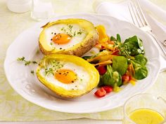 Eier-Rezepte - das Gelbe vom Ei! - gefuellte-kartoffel-mit-ei  Rezept