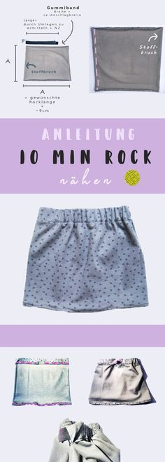 Sewing a skirt in 10 minutes – The square pattern Rock nähen in 10 Minuten – Das Quadrat Schnittmuster - Cute Adorable Baby Outfits Baby Knitting Patterns, Sewing Patterns, Crochet Patterns, How To Start Knitting, Knitting For Beginners, Easy Knitting, Knitting Needles, Knitting Yarn, Sewing Clothes