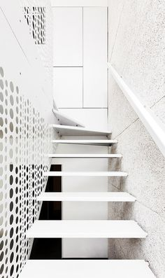 Staircase Design - From a house in Schaerbeek Creuse Street near Brussels. The renovation performed by M Architecture. | #Staircase #InteriorDesign |