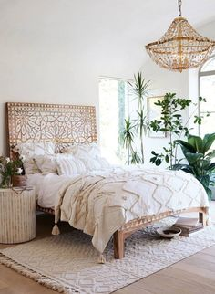 17 Boho Chic Bedroom Designs to enter the variety in the home - interior - Apartment Decor Bohemian Bedroom Decor, Boho Room, Home Decor Bedroom, Modern Bedroom, Bedroom Furniture, Bedroom Ideas, Bedroom Designs, Bohemian Headboard, Bohemian Chic Decor