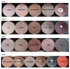 MAC eyeshadows, a study in subtlety.