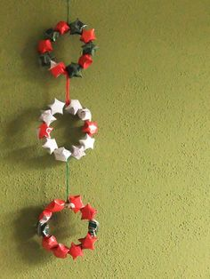 Origami Lucky star garland. Here is the youtube link to make the stars: http://youtu.be/u4Woj9oP3AI
