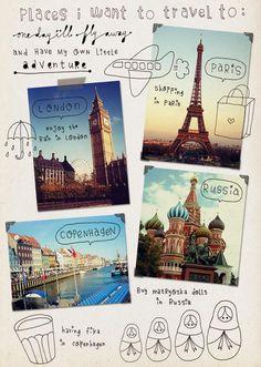 cute travel journal ideas