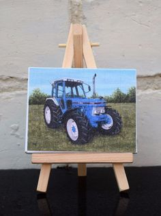 Mini Canvas Print Tractor Themed Ford 7810