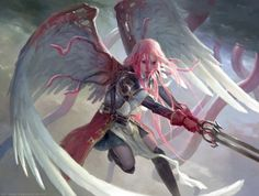 As incríveis ilustrações de fantasia para card games de Clint Cearley - Gisela, the Broken Blade - Magic: the Gathering