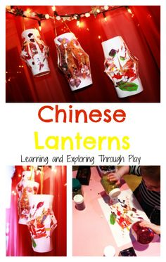 Chinese Lanterns. Chinese New Year Arts and Crafts for Toddlers and Preschool. Chinese New Year Decorations. Art and Crafts using old paintings. Learning and Exploring Through Play.