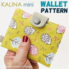 Easy sewing hacks are available on our website. Take a look and you wont be sorry you did. Wallet Sewing Pattern, Coin Purse Pattern, Bag Pattern Free, Purse Patterns, Sewing Patterns Free, Free Sewing, Tote Pattern, Apron Patterns, Backpack Pattern